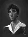 Cartoon: Tony Montana (small) by thatboycandraw tagged tony montana al pacino scarface