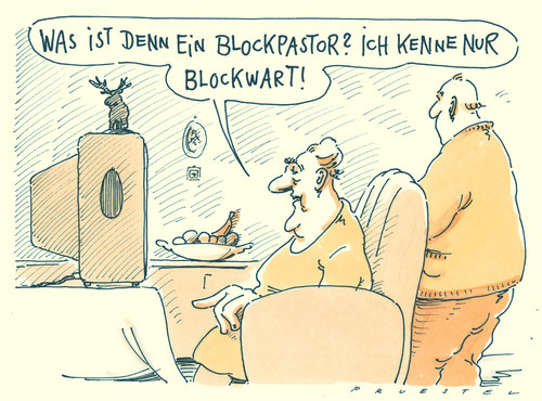 Cartoon: blockbuster (medium) by Andreas Prüstel tagged blockbuster,eventmovie,mainstreamfilm,tv,blockwart,blockbuster,tv,blockwart,filme