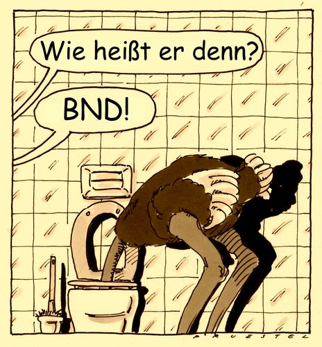 Cartoon: BND (medium) by Andreas Prüstel tagged bnd,nsa,geheimdienst,ausspionierung,datensammlung,strauß,wc,cartoon,karikatur,andreas,pruestel,bnd,nsa,geheimdienst,ausspionierung,datensammlung,strauß,wc,cartoon,karikatur,andreas,pruestel