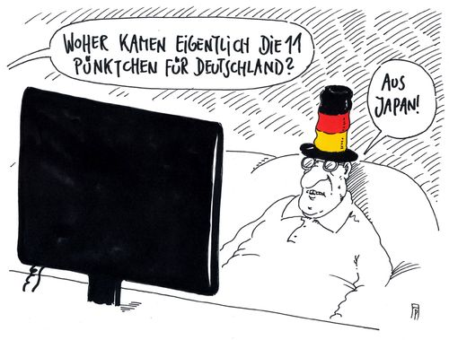 Cartoon: esc 2016 (medium) by Andreas Prüstel tagged esc,punktvergabe,platzierung,deutschland,japan,cartoon,karikatur,andreas,pruestel,esc,punktvergabe,platzierung,deutschland,japan,cartoon,karikatur,andreas,pruestel