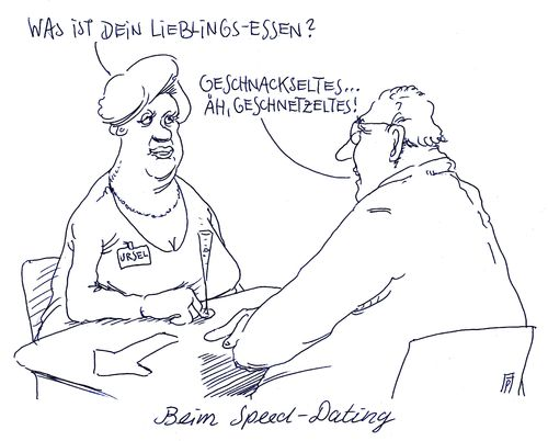 Cartoon: schnellkennenlerning (medium) by Andreas Prüstel tagged dating,speeddating,kennenlernen,singles,cartoon,karikatur,andreas,pruestel,dating,speeddating,kennenlernen,singles,cartoon,karikatur,andreas,pruestel
