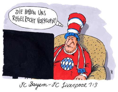 Cartoon: servus bayern (medium) by Andreas Prüstel tagged fußball,champions,league,fc,bayern,münchen,liverpool,trainer,jürgen,klopp,cartoon,karikatur,andreas,pruestel,fußball,champions,league,fc,bayern,münchen,liverpool,trainer,jürgen,klopp,cartoon,karikatur,andreas,pruestel