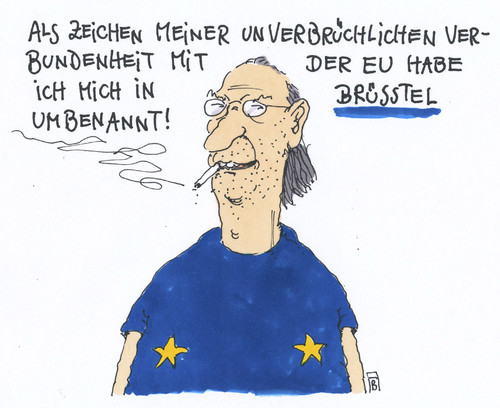 Cartoon: umbennung (medium) by Andreas Prüstel tagged europa,eu,brüssel,prüstel,cartoon,karikatur,andreas,pruestel,europa,eu,brüssel,prüstel,cartoon,karikatur,andreas,pruestel