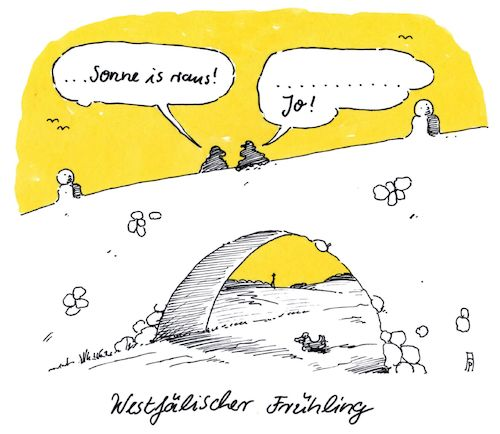Cartoon: westfälisch (medium) by Andreas Prüstel tagged westfalen,frühling,cartoon,karikatur,andreas,pruestel,westfalen,frühling,cartoon,karikatur,andreas,pruestel