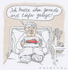 Cartoon: amputant (small) by Andreas Prüstel tagged autounfall,beinamputation,krankenhaus