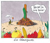 Cartoon: die schmorgurke (small) by Andreas Prüstel tagged ehec infektion salatgurken