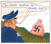 Cartoon: eventuell (small) by Andreas Prüstel tagged nazismus,neonazis,polizei