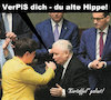 Cartoon: hippe (small) by Andreas Prüstel tagged polen,pispartei,szydlo,kaczynski,premierministerwechsel,cartoon,collage,andreas,pruestel