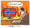 Cartoon: höllisch (small) by Andreas Prüstel tagged massaker,norwegen,nazismus,neonazismus,hölle,hitler,rassismus