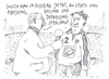 Cartoon: o.t. (small) by Andreas Prüstel tagged fussball,depressionen,leistungsdruck