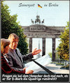 Cartoon: quadriga (small) by Andreas Prüstel tagged berlin,teilung,ddr,brandenburger,tor,deutsche,mark,berliner,mauer,westberlin,ostberlin,cartoon,collage,andreas,pruestel
