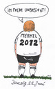 Cartoon: viertelfinale (small) by Andreas Prüstel tagged merkel,fußballeuropameisterschaft,danzig,polen