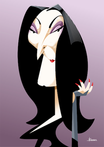 Cartoon: Anjelica Huston (medium) by Ulisses-araujo tagged anjelica,huston