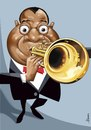 Cartoon: Louis Armstrong (small) by Ulisses-araujo tagged louis,armstrong,caricature