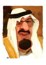 Cartoon: Abdullah Abdulaziz (small) by handren khoshnaw tagged handren khoshnaw abdullah abdulaziz saudia king
