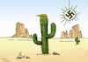 Cartoon: Donald Trump a cactus plant (small) by handren khoshnaw tagged donald trump cartoon cactus desert racist handren khoshnaw