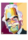 Cartoon: omer elsharif - omar sharif (small) by handren khoshnaw tagged omer,elsharif,omar,al,sharif