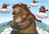Cartoon: osos voladores (small) by ernesto guerrero tagged bears,animals,childrens,nature