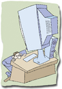 Cartoon: Computer (small) by astaltoons tagged computer,pc,internet