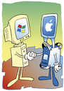 Cartoon: Computer (small) by astaltoons tagged computer,apple,windows