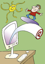 Cartoon: Computer (small) by astaltoons tagged computer,internet,surfen