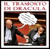 Cartoon: tramonto di dracula (small) by yalisanda tagged berlusca,berlugnette,government,italy,crises