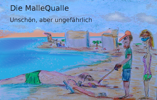 Cartoon: mallorca (medium) by ab tagged mallorca,meer,tier,tourist,strand