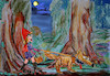 Cartoon: strange fairytales xxx (small) by ab tagged little,redhood,wolf,wood,moon