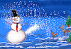 Cartoon: winterfreuden (small) by ab tagged winter,schnee,flocken,mann