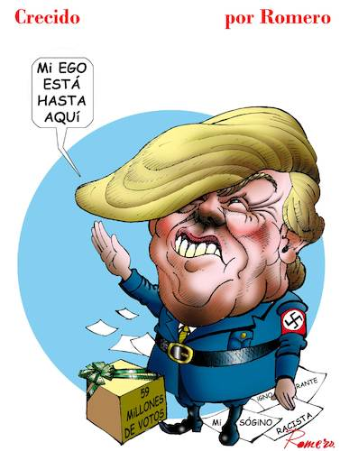 Cartoon: complejo hitleriano (medium) by Romero tagged trump,caricatura,dibujo,mexico,estados,unidos,politica,internacional