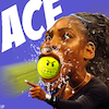 Cartoon: ACE (small) by Bart van Leeuwen tagged serena,williams,tennis,cartoon,racist