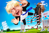 Cartoon: Backed the wrong horse (small) by Bart van Leeuwen tagged boris johnson brexit no deal parliament house of commons horse