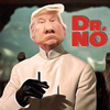 Cartoon: Dr. No (small) by Bart van Leeuwen tagged trump,debat,elections,no,denial