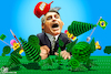 Cartoon: Ego Bolsonaro (small) by Bart van Leeuwen tagged bolsonaro,amazon,rainforest,lego,ego,climatechange
