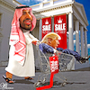 Cartoon: Presidential sale (small) by Bart van Leeuwen tagged khashoggi,trump,saudi,arabia,arms,deal,mohammed,bin,salman
