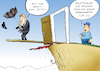 Cartoon: Brexit-Exit (small) by Paolo Calleri tagged eu,gb,grossbritannien,brexit,united,kingdom,great,britain,austritt,austrittserklaerung,eugh,europaeisch,gericht,gerichtshof,entscheidung,karikatur,cartoon,paolo,calleri