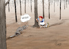 Cartoon: Dürrestress (small) by Paolo Calleri tagged deutschland,sommer,hitze,trockenheit,natur,umwelt,waelder,wald,klima,klimawandel,temperaturen,fauna,flora,europa,klimanotstand,co2,emissionen,lebenswandel,zukunft,karikatur,cartoon,paolo,calleri