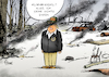 Cartoon: Lost in Paradise (small) by Paolo Calleri tagged usa,us,praesident,donald,trump,kalifornien,braende,waelder,feuer,besuch,kritik,forst,klima,klimawandel,duerre,trockenheit,leugner,paradise,karikatur,cartoon,paolo,calleri