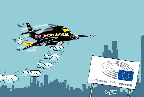 Cartoon: Briefbomber (medium) by RABE tagged brexit,no,deal,johnson,boris,downing,street,austritt,eu,brüssel,london,rabe,ralf,böhme,cartoon,karikatur,pressezeichnung,farbcartoon,tagescartoon,may,juncker,luxemburg,briefe,tusk,aufschub,ende,oktober,flieger,bomber,bomben,brexit,no,deal,johnson,boris,downing,street,austritt,eu,brüssel,london,rabe,ralf,böhme,cartoon,karikatur,pressezeichnung,farbcartoon,tagescartoon,may,juncker,luxemburg,briefe,tusk,aufschub,ende,oktober,flieger,bomber,bomben