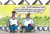 Cartoon: Cannabisanbau (small) by RABE tagged cannabis,hanfpflanze,cannabisanbau,hausgebrauch,legal,gericht,patienten,drogen,erlaubnis,rabe,ralf,böhme,cartoon,karikatur,pressezeichnung,farbcartoon,tagescartoon,hanfplantage,dealer,eigentherapie,schmerztherapie,therapiezwecke,dröhnung,rausch,trip,notlö
