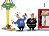 Cartoon: Ceta nochmal (small) by RABE tagged ceta,freihandelsabkommen,belgien,eu,wallonie,protest,schulz,kanada,rabe,ralf,böhme,cartoon,karikatur,pressezeichnung,farbcartoon,tagescartoon,rummelplatz,hau,den,lukas
