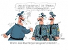 Cartoon: Musterpolizeigesetz (small) by RABE tagged musterpolizeigesetz,innenminister,innenministerkonferenz,dresden,schleierfahndung,is,terrorgefahr,terrorsperren,überwachung,fußfesseln,rabe,ralf,böhme,cartoon,karikatur,pressezeichnung,farbcartoon,tagescartoon,polizei,befehl,polizeieinsatz,uniform,muster,punkte,pünktchen