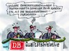 Cartoon: Qualitätsinitiative DB (small) by RABE tagged deutsche,bahn,kunden,qualitätsinitiative,fahrkarten,fahrplan,ice,verspätung,bahnsteig,fahrpreiserhöhung,zugverspätung