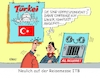 Cartoon: Reisemesse (small) by RABE tagged türkei,erdogan,korrespondenten,journalisten,akreditierung,presseausweis,menschenrehte,folter,gefängnis,urlauber,pressefreiheit,diktator,rabe,ralf,böhme,cartoon,pressezeichnung,farbcartoon,tagescartoon,reisen,reisender,tourismus,tourismusmesse,itb,komplettangebot,all,inclusive
