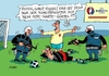 Cartoon: Rote Karte (small) by RABE tagged fußball,em,paris,nationalelf,löw,reus,ruby,brandt,bellarabi,rabe,ralf,böhme,cartoon,karikatur,pressezeichnung,farbcartoon,tagescartoo,auswahl,kader,terror,anschläge,is,sprengstoffgürtel,schiedsrichter,rote,karte,arschkarte