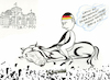 Cartoon: Bundestagswahlkampf-Tag (small) by menschenskindergarten tagged bundestagswahl