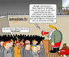 Cartoon: Amazon Streik (small) by CloudScience tagged amazon,streik,weihnachten,skalverei