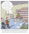 Cartoon: Digitalisierung der Verwaltung (small) by CloudScience tagged verwaltung,digitalisierung,amt,bürokratie,digital,innovation,fax,briefpost,rohrpost,widerstand,beamte,beamter,bedrohung,zukunft,tech,technologie,technik,bund,egovernment,mittelalter