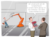 Cartoon: ITSecurity (small) by CloudScience tagged itsecurity,sicherheit,malware,ransomware,iot,internet,of,things,angriff,attacke,security,roboter,vernetzung,smart,der,dinge,robotik,factory,it,tech,technologie,digitalisierung,produktion,fabrik,fertigung,ki,disruption,wandel,transformation,zukunft,trend,karikatur,datensicherheit,schadsoftware,cybercrime,hacker,trojaner