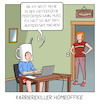 Cartoon: Karrierekiller Homeoffice (small) by CloudScience tagged homeoffe,karriere,remote,work,heimarbeit,telearbeit,business,digitalisierung,hierarchie,management,kaffee,kaffeeküche,performance,leistung,produktivität,mitarbeiter,unternehmen,arbeiten,arbeit,new,arbeit40,digital,internet,tech,technik,technologie,zukunft,corona,covid19